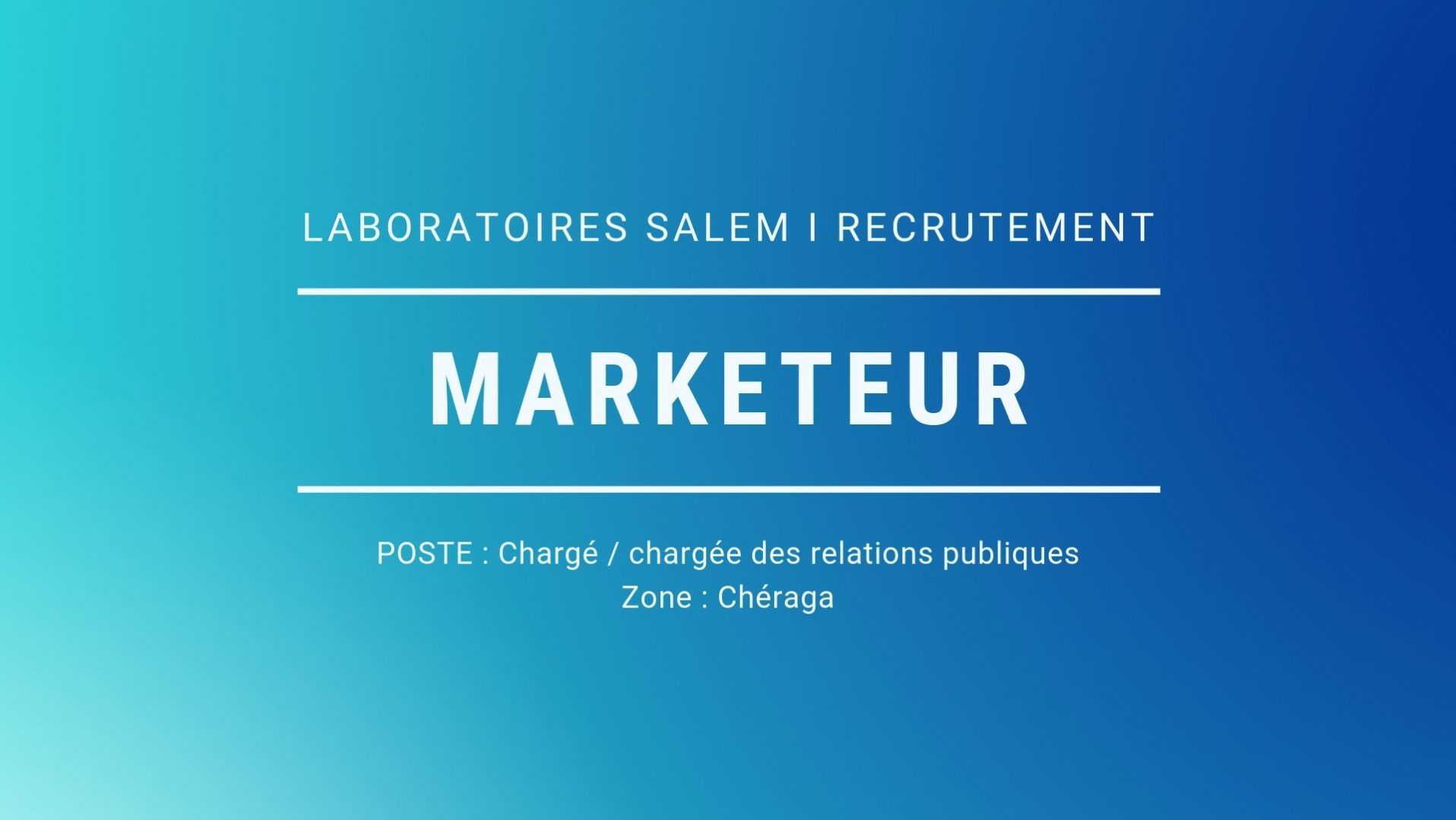 Offre d'emploi,chargé(e) des relations publiques