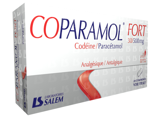 Coparamol fort 30/500 mg