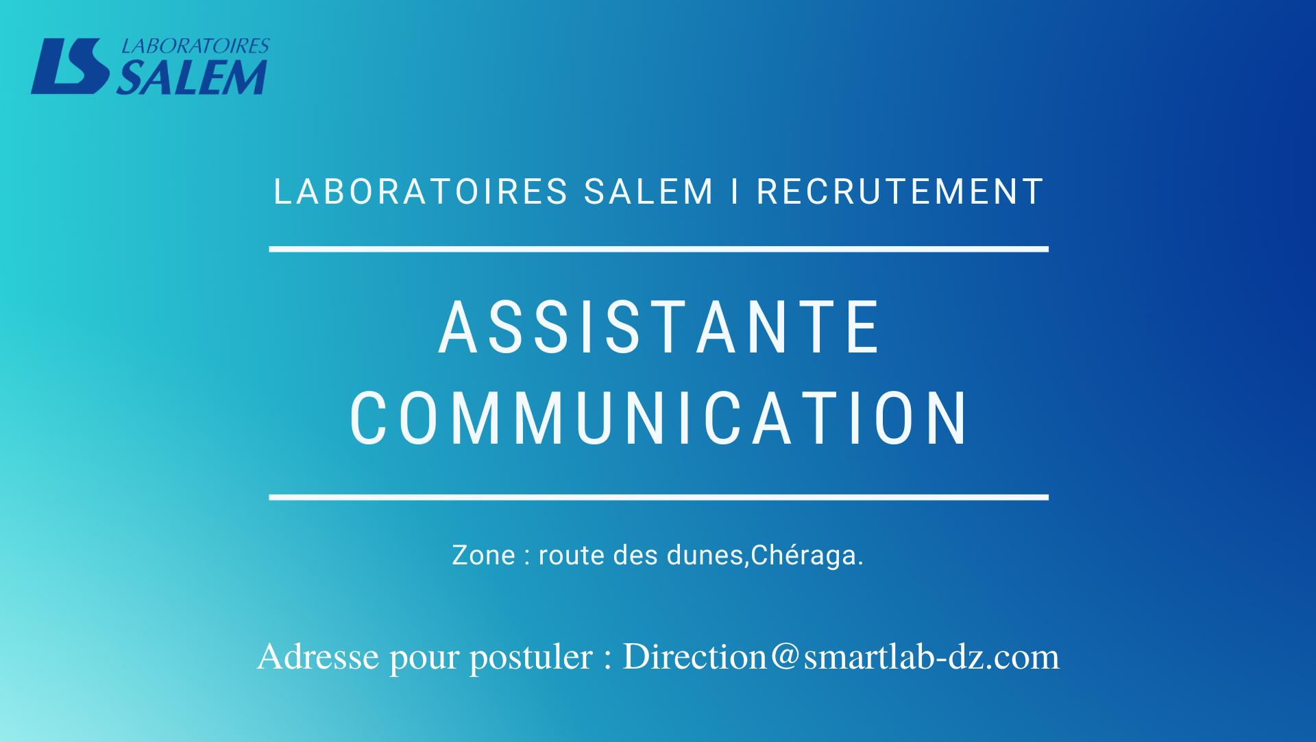communication, assistante en communication, marketing,recrutement, labosalem, communication, marketing, métier,emploi, salaire, entreprise, carrière