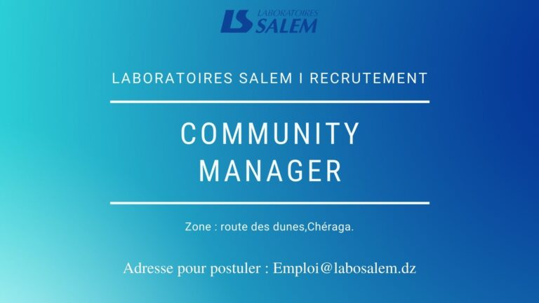 Recrutement «Community manager»