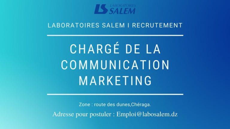 Recrutement «Chargé de la communication marketing»