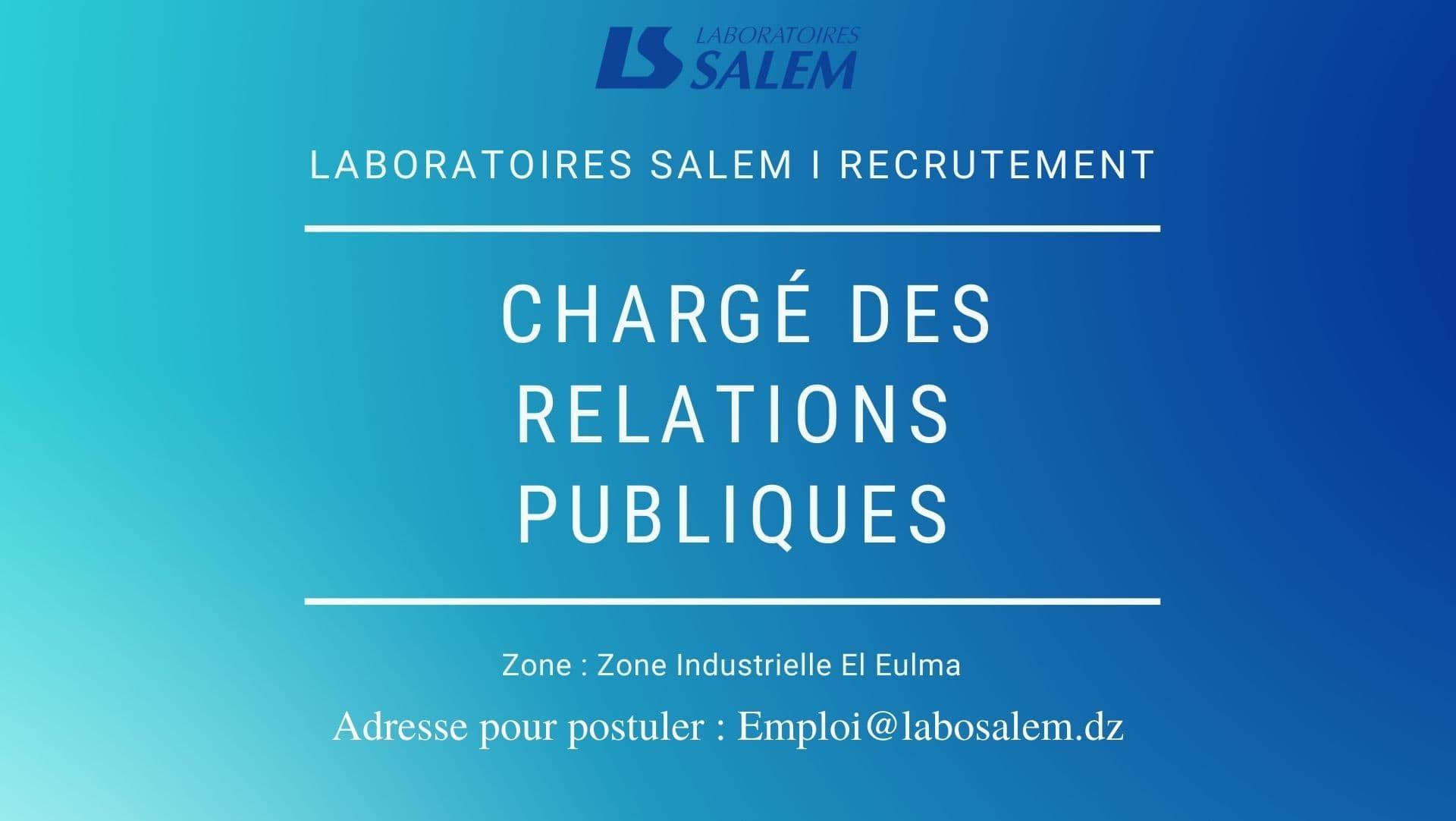 offre d'emploi relation publique, labosalem,emploi,emploi,khedma