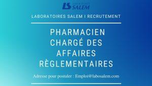 offre d'emploi pharmacien,labosalem emploi,emploi,khedma